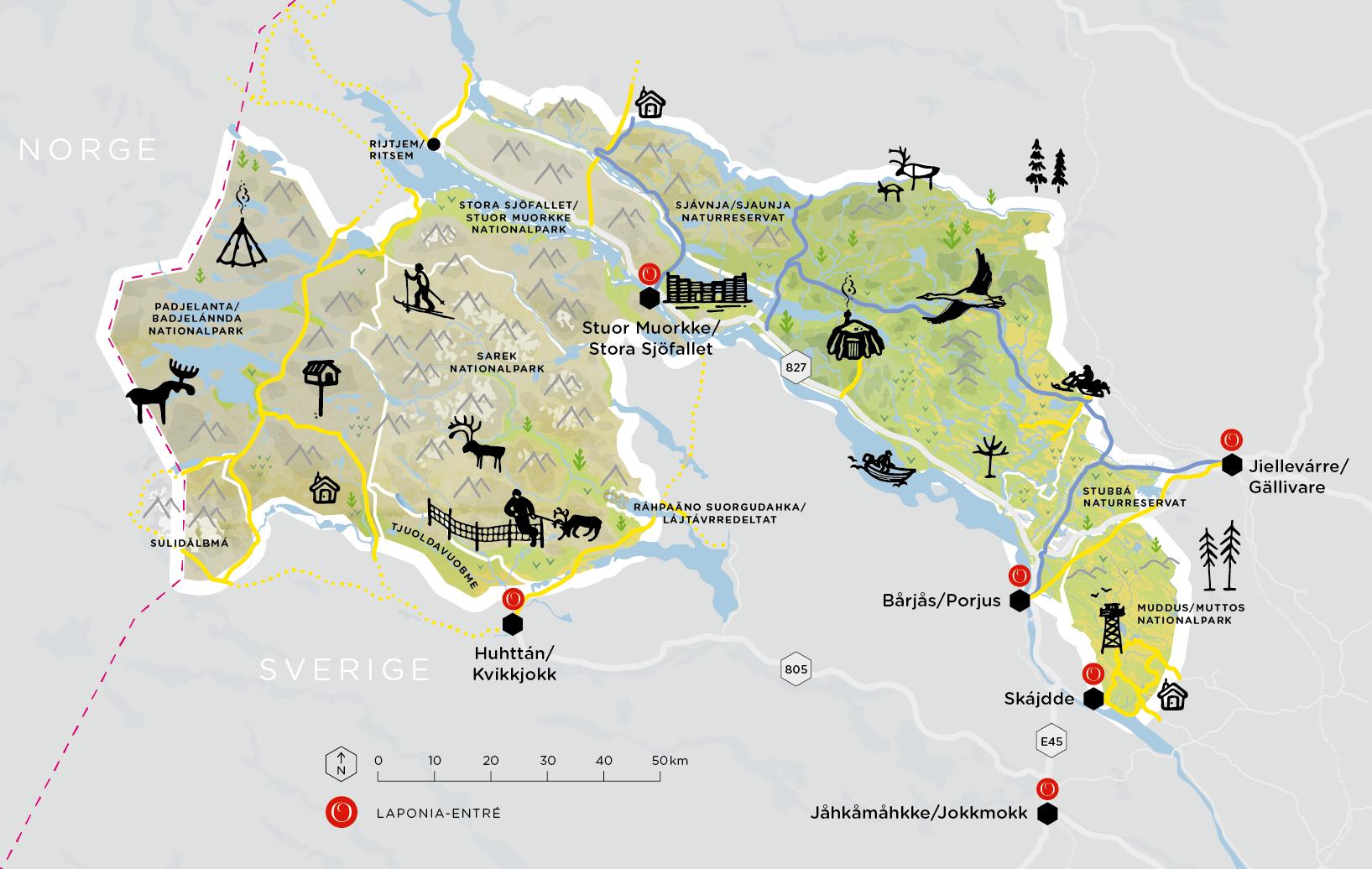 map laponia